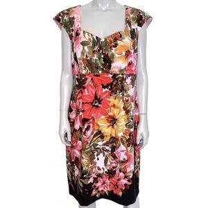 {dressbarn} watercolor floral sweetheart dress